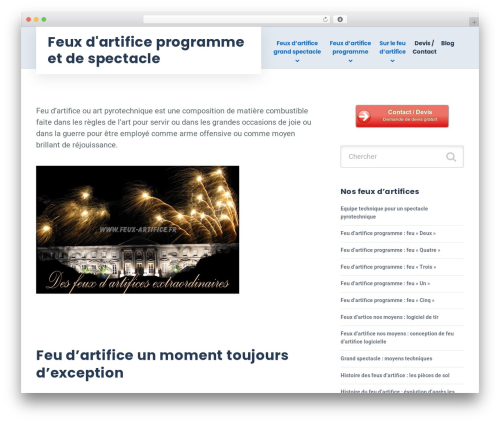 GrowthPress PT template WordPress - feux-artifice.fr