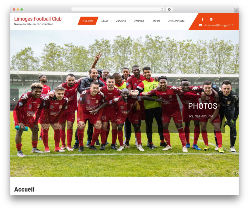 WP template Sports Club Lite - limogesfc.fr