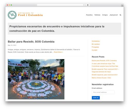 Neve premium WordPress theme - fredicolombia.org