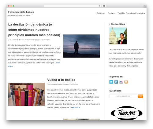 neve theme WordPress - fernandonieto.es