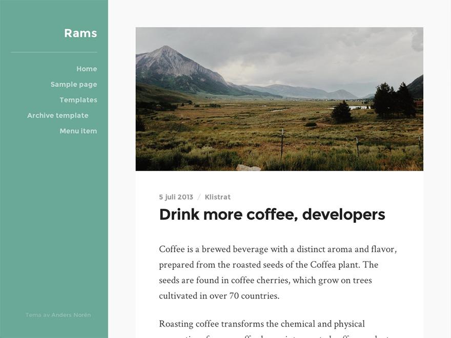 Rams WordPress photo theme