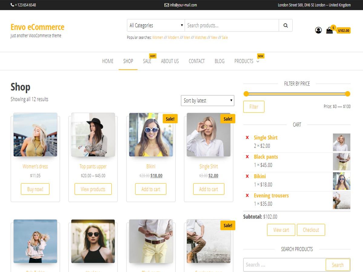 Envo eCommerce best WooCommerce theme