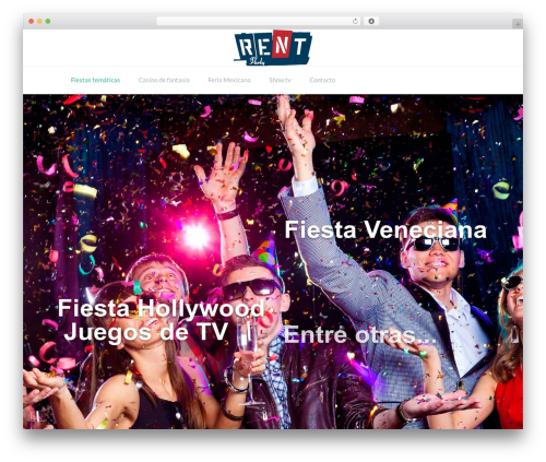 TheFox WordPress theme - fiestas-tematicas.com.mx