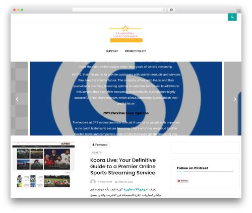 Vihaan Blog Lite WordPress blog theme - lamolineracoleccionables.com