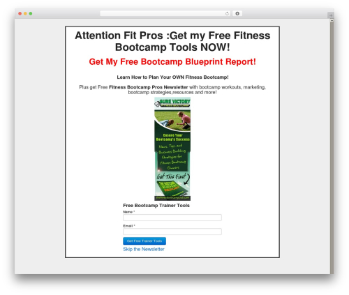 Creative Agency fitness WordPress theme - thefitnessbootcampclub.com