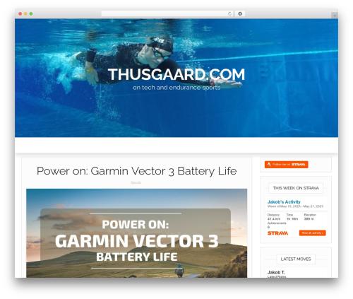 Head Blog WordPress blog template - thusgaard.com