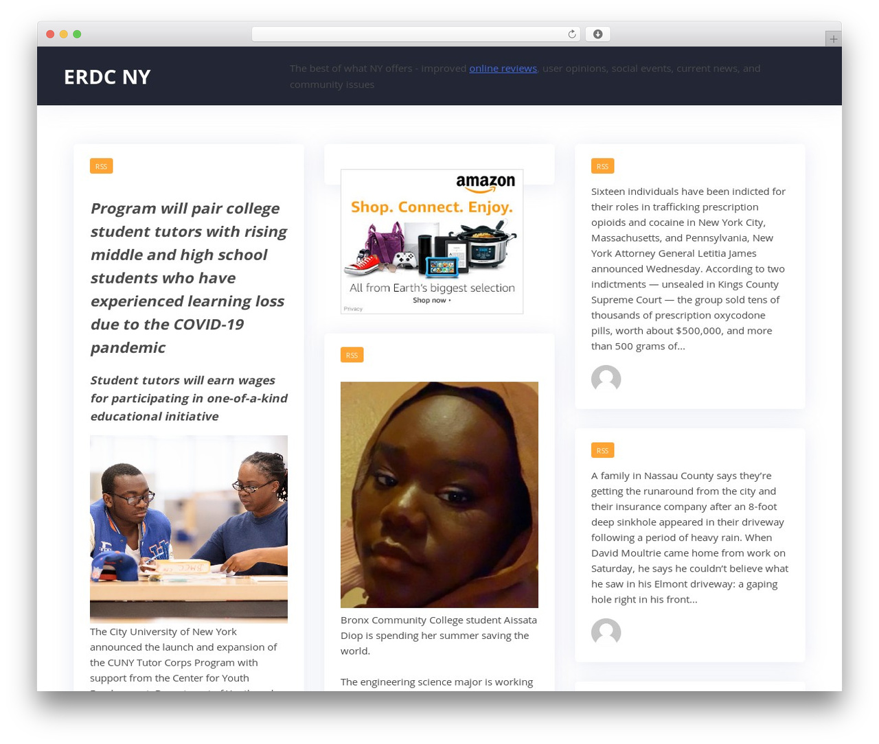 WP template Addictive Site Builder - erdc-ny.org