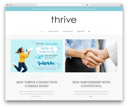 WP template Mini Blog - thriveconnection.com