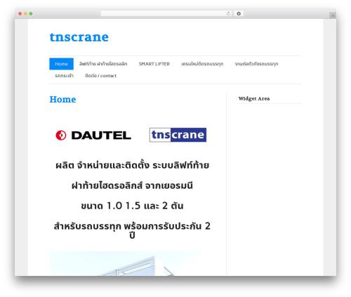 zeeFlow template WordPress - tnscrane.com