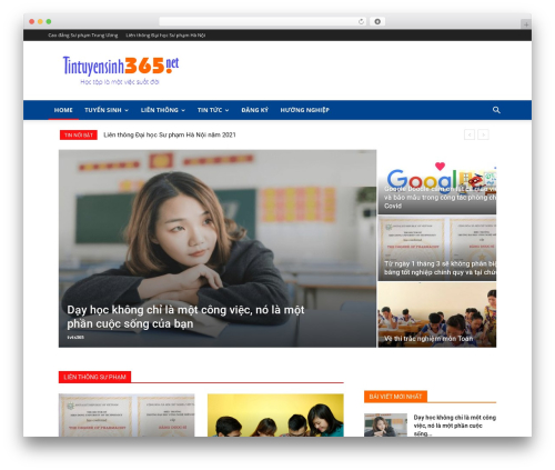 Best WordPress template Newspaper - tintuyensinh365.net