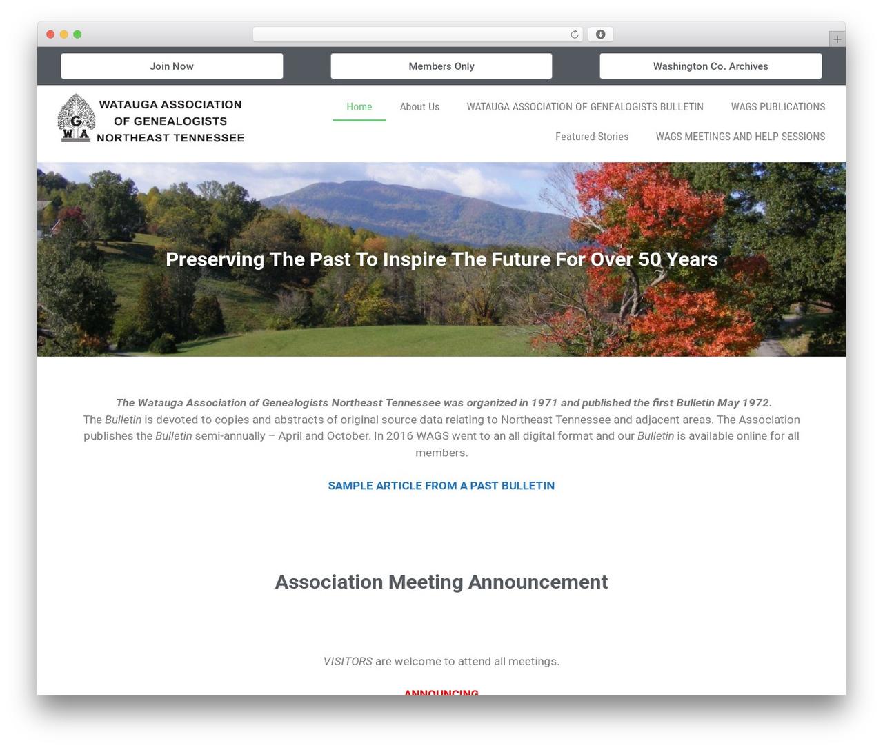 GeneratePress free WordPress theme - wagsnetn.org