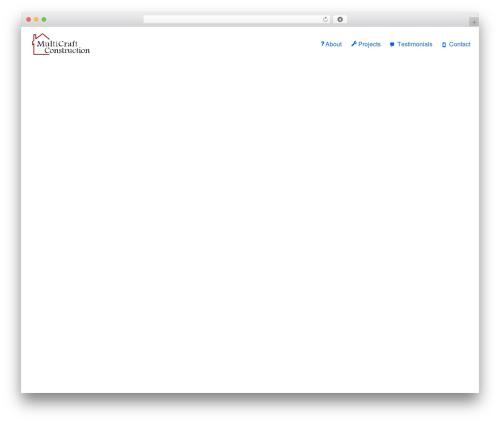 neve WordPress theme - multicraftconstruction.com