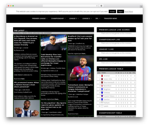 Extra newspaper WordPress theme - sportsdroid.net