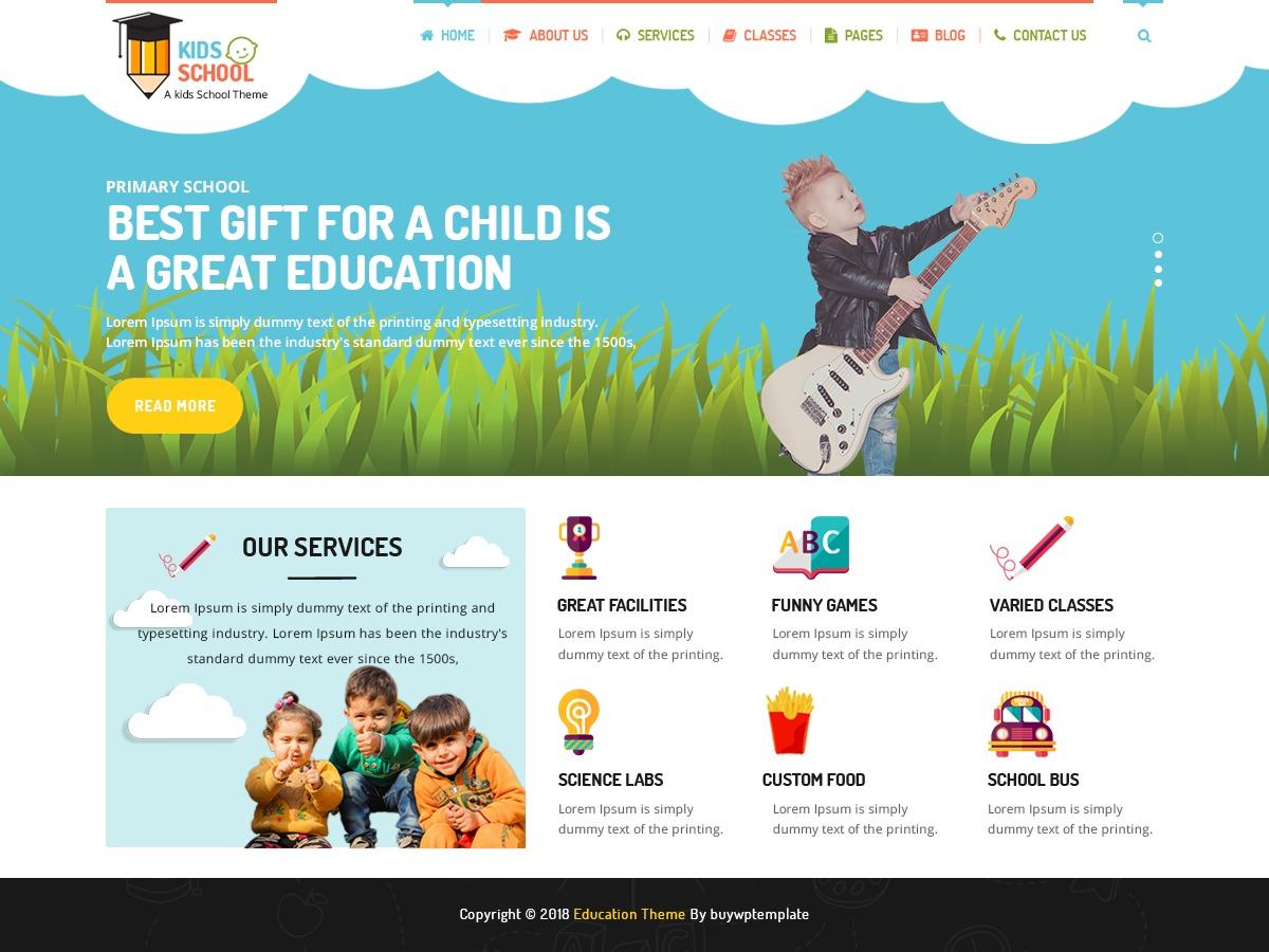 Kindergarten Education Pro company WordPress theme