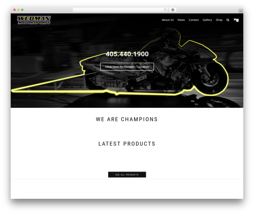 neve automotive WordPress theme - wedmanmotorsports.com