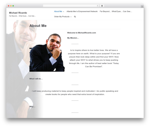 neve WordPress theme - michaelricardo.com