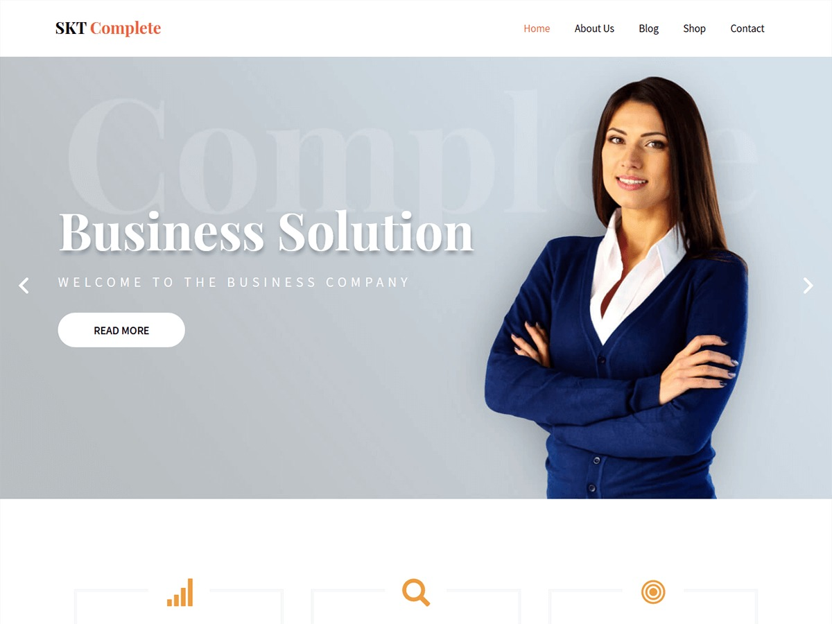 SKT Complete WordPress template for business by SKT Themes