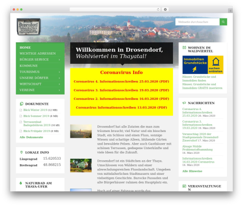 WordPress theme TownPress - drosendorf.at