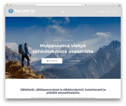 WordPress website template Sunergy - top-unit.fi