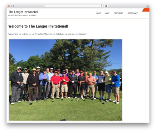 WP theme Sports Club Lite - thelangerinvitational.com