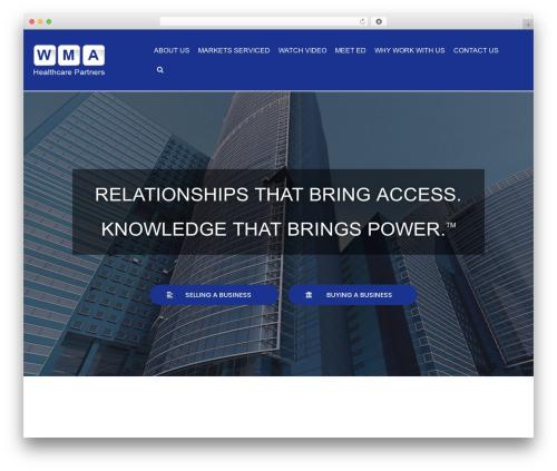 neve company WordPress theme - wmapartners.com