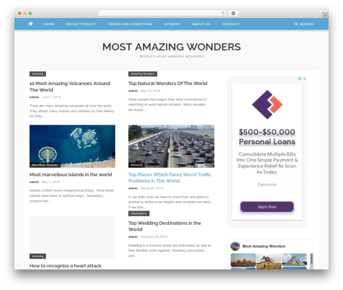 WordPress website template Codilight - mostamazingwonders.com