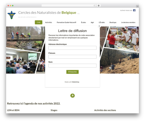 WP template Eco Friendly Lite - cercles-naturalistes.be
