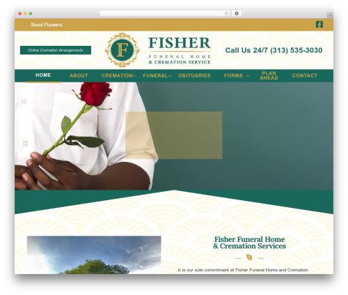 Deep top WordPress theme - fisherfuneralhome.net