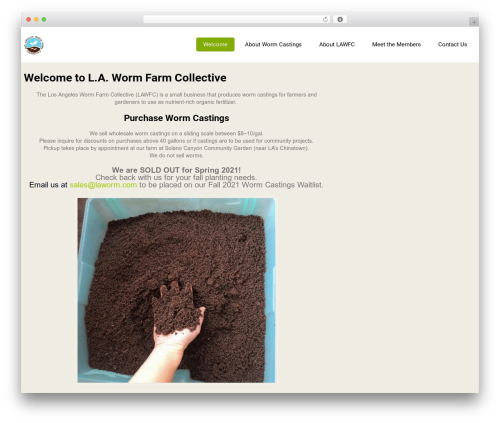 Eco Friendly Lite theme WordPress - lawormfarmcollective.com