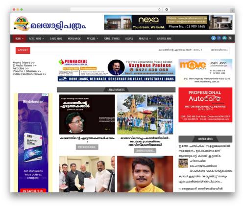 HotWP WordPress theme - malayaleepathram.com.au