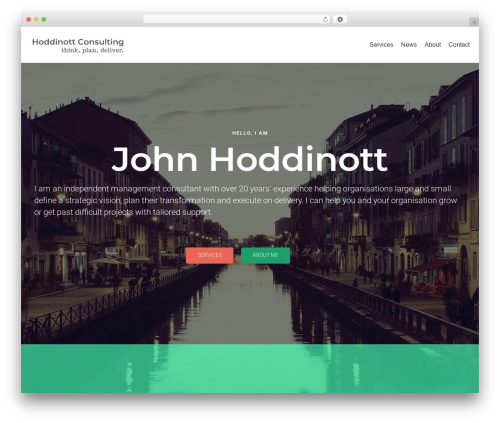 neve WordPress theme - hoddinottconsulting.com