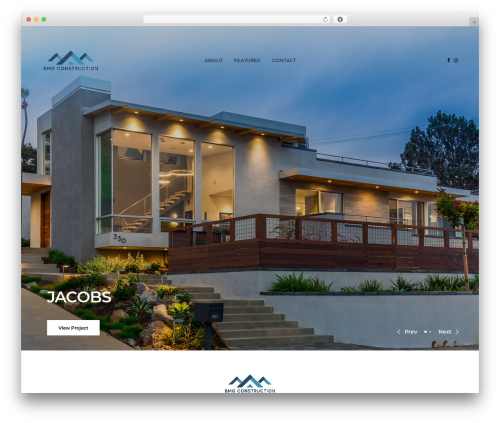 Revolution real estate WordPress theme - bmg-construction.com
