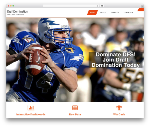 Sports Club Lite WP template - draftdomination.com