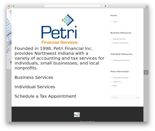 WordPress theme Agora - petrifinancial.com