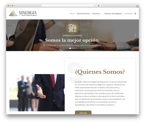 WordPress website template neve - sinergiasesores.com