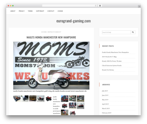 Sanremo WordPress template free - eurogrand-gaming.com