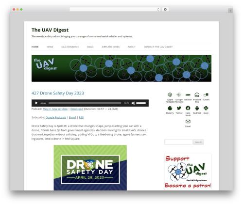Twenty Twelve template WordPress free - uavdigest.com