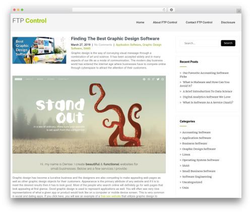 Eco Friendly Lite WordPress template - ftpcontrol.com