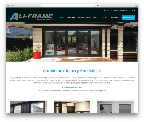 Veda WordPress theme - aliframe.co.nz