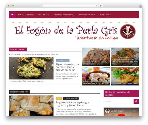 ColorMag Pro food WordPress theme - elfogondelaperlagris.com