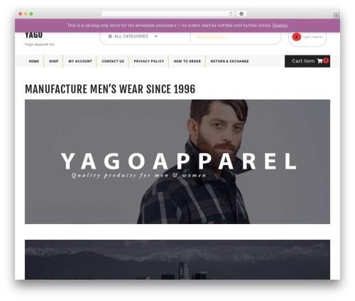 Ecommerce Solution WordPress store theme - yagoapparel.com