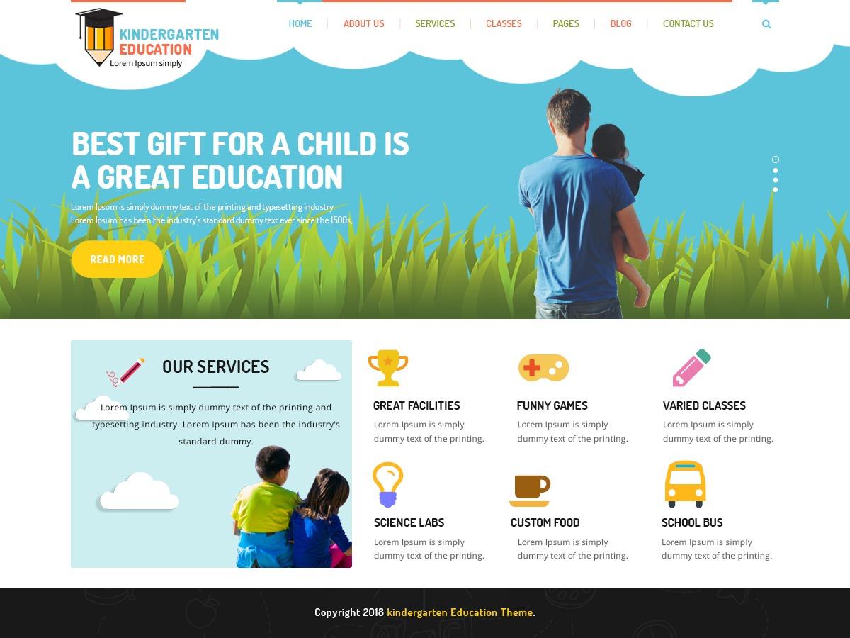 kindergarten_education_second WordPress ecommerce theme