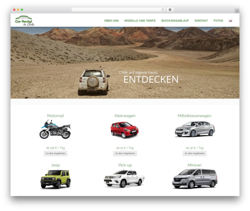 RentIt WordPress theme - mietwagen-in-chile.de