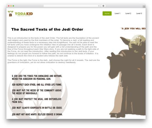 WordPress theme Eco Friendly Lite - yodakid.com