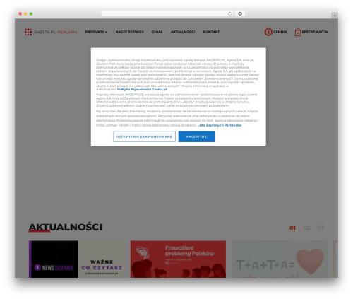 Agora best WordPress theme - reklama.gazeta.pl