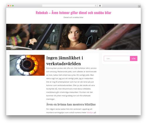 Drift Blog WordPress blog template - rebekah.se