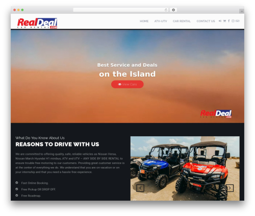 RentIt best WordPress template - realdealcarrental.com