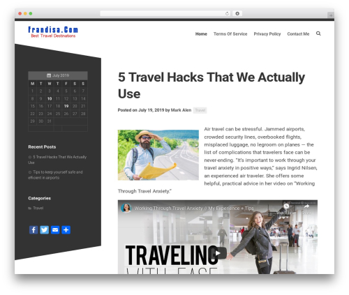 Minimer WordPress theme - frandisa.com