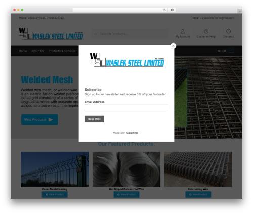 Shoptimizer WordPress store theme - waslek.net