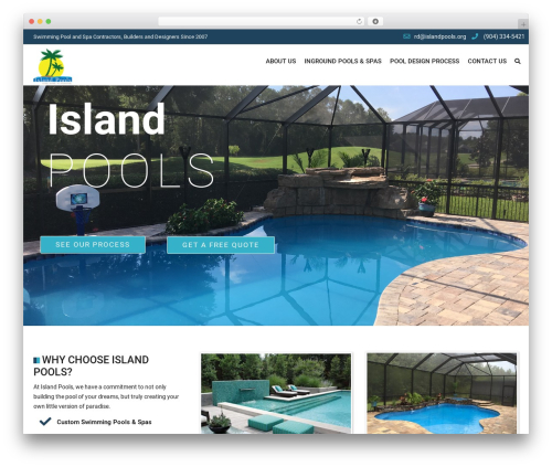SwimmingPool WordPress template - islandpoolsjax.com